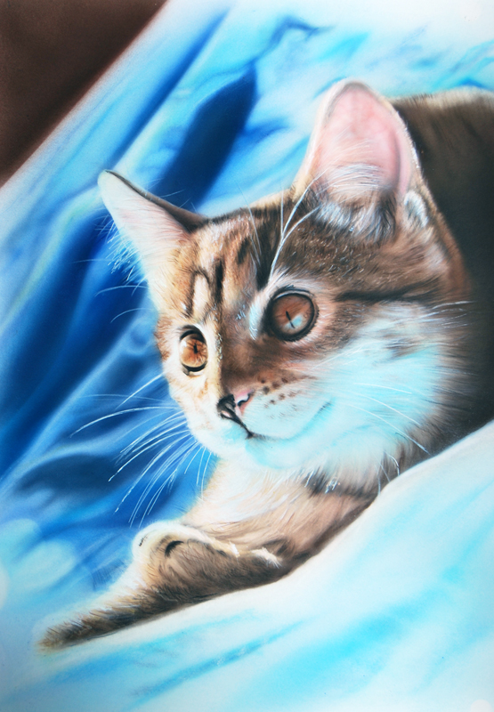 Pet portrait painting sussex