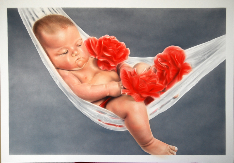 Portrait painting of Baby